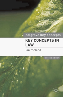 Key Concepts in Law, Paperback Book