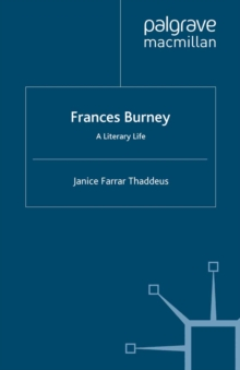 Frances Burney : A Literary Life, PDF eBook