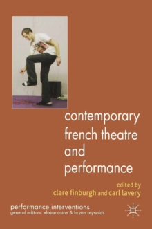 Contemporary French Theatre and Performance, PDF eBook