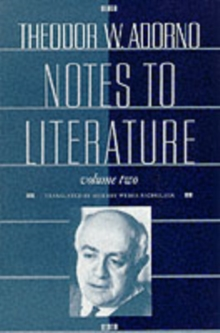 Notes to Literature, Paperback Book