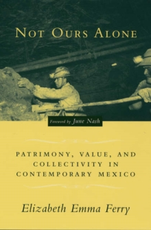 Not Ours Alone : Patrimony, Value, and Collectivity in Contemporary Mexico, Paperback / softback Book