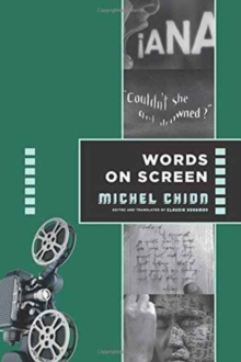 Words on Screen, Paperback Book