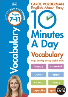 10 Minutes a Day Vocabulary Ages 7-11 Key Stage 2, Paperback / softback Book