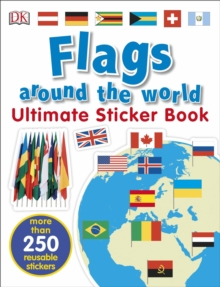 Flags Around the World Ultimate Sticker Book, Paperback Book