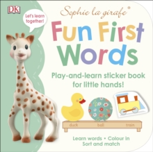 Sophie la girafe Fun First Words : Play-and-Learn Sticker Book for Little Hands!, Paperback Book