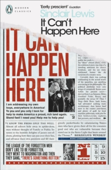 It Can't Happen Here, Paperback Book