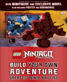 LEGO NINJAGO Build Your Own Adventure Greatest Ninja Battles : with Nya minifigure and exclusive Hover-Bike model, Hardback Book