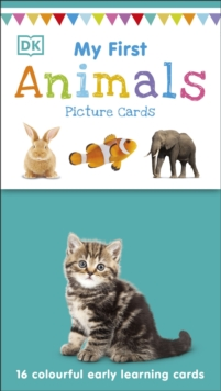 My First Animals : 16 colourful early learning cards, Cards Book