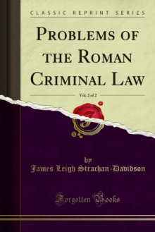 Problems of the Roman Criminal Law, PDF eBook