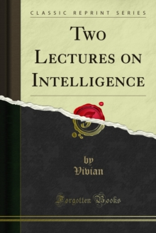 Two Lectures on Intelligence, PDF eBook