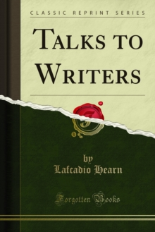 Talks to Writers, PDF eBook