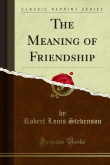 The Meaning of Friendship, PDF eBook