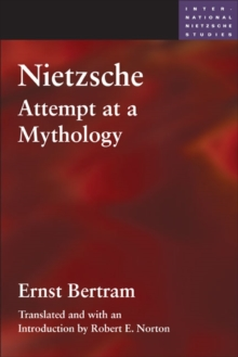 Nietzsche : Attempt at a Mythology, Paperback Book