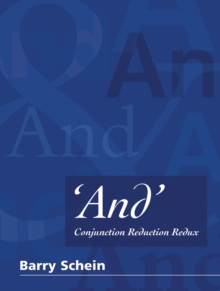 'And' : Conjunction Reduction Redux, Hardback Book