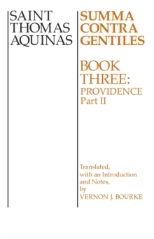 Summa Contra Gentiles : Book 3: Providence, Part II, PDF eBook