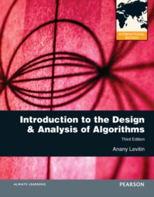 Introduction to the Design and Analysis of Algorithms : International Edition, Paperback / softback Book