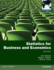 Statistics for Business and Economics: Global Edition, Paperback Book