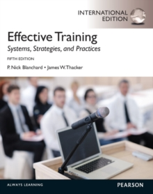 Effective Training: International Edition, Paperback Book