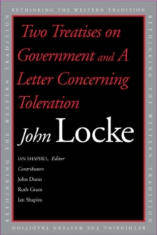 Two Treatises of Government and A Letter Concerning Toleration, Paperback / softback Book