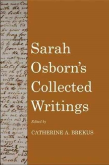 Sarah Osborn's Collected Writings, Hardback Book