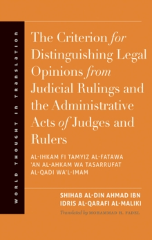 The Criterion for Distinguishing Legal Opinions from Judicial Rulings and the Administrative Acts of Judges and Rulers, EPUB eBook