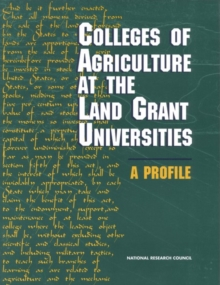 Colleges of Agriculture at the Land Grant Universities : A Profile, PDF eBook