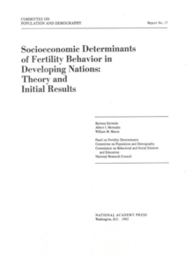 Socioeconomic Determinants of Fertility Behavior in Developing Nations : Theory and Initial Results, PDF eBook