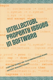 Intellectual Property Issues in Software, PDF eBook
