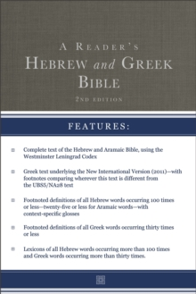 A Reader's Hebrew and Greek Bible : Second Edition, Hardback Book