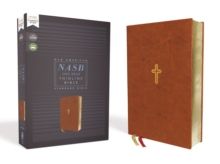NASB, Thinline Bible, Leathersoft, Brown, Red Letter Edition, 1995 Text, Comfort Print, Leather / fine binding Book