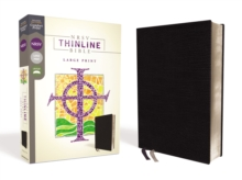 NRSV, Thinline Bible, Large Print, Bonded Leather, Black, Comfort Print, Leather / fine binding Book