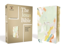 The Jesus Bible Artist Edition, ESV, Leathersoft, Multi-color/Teal, Leather / fine binding Book