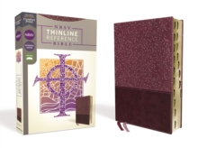 NRSV, Thinline Reference Bible, Leathersoft, Burgundy, Thumb Indexed, Comfort Print, Leather / fine binding Book