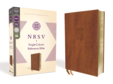 NRSV, Single-Column Reference Bible, Leathersoft, Brown, Comfort Print, Leather / fine binding Book