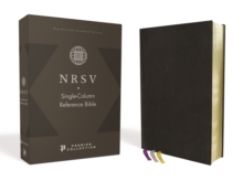 NRSV, Single-Column Reference Bible, Premium Goatskin Leather, Black, Premier Collection, Art Gilded Edges, Comfort Print, Leather / fine binding Book