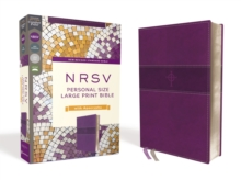 NRSV, Personal Size Large Print Bible with Apocrypha, Leathersoft, Purple, Comfort Print, Leather / fine binding Book