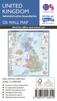 United Kingdom Administrative Boundaries, Sheet map, rolled Book