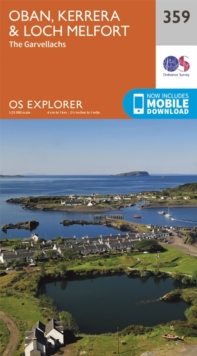 Oban, Kerrera and Loch Melfort, Sheet map, folded Book