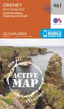 Orkney - East Mainland, Sheet map, folded Book