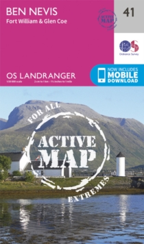Ben Nevis, Fort William & Glen Coe, Sheet map, folded Book