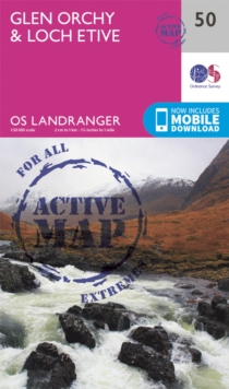 Glen Orchy & Loch Etive, Sheet map, folded Book