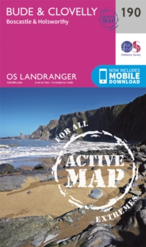 Bude & Clovelly, Boscastle & Holsworthy, Sheet map, folded Book