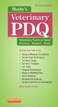 Mosby's Veterinary PDQ, Spiral bound Book