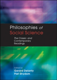 PHILOSOPHIES OF SOCIAL SCIENCE, Paperback / softback Book