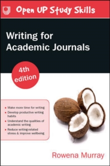 Writing for Academic Journals 4e, Paperback / softback Book