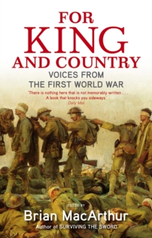 For King And Country : Voices from the First World War, EPUB eBook