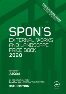 Spon's External Works and Landscape Price Book 2020, Hardback Book