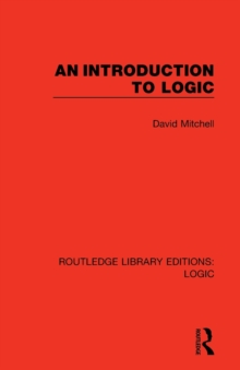 An Introduction to Logic, Paperback / softback Book