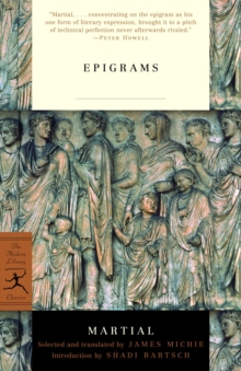 Mod Lib The Epigrams Of Martial, Paperback Book