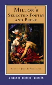 Milton's Selected Poetry and Prose, Paperback / softback Book